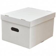 Короб №82/1 белый (архивный) с крышкой, 400*330*255 мм