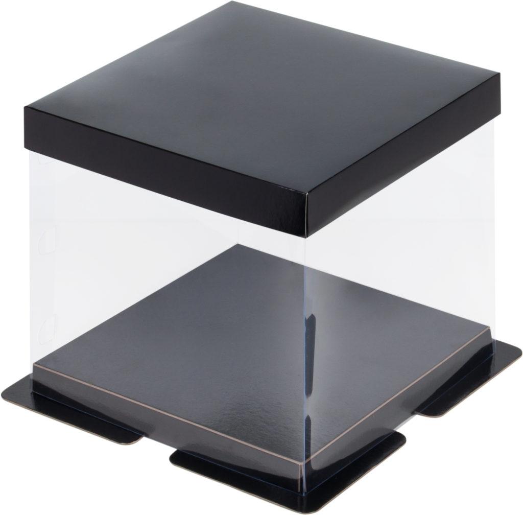 Коробка для торта, пряничный домик прозрачная ПРЕМИУМ в ассортименте