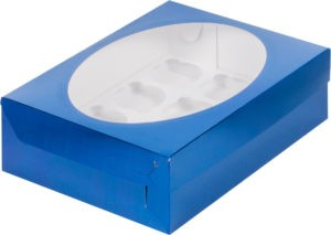 Коробка для 12 капкейков с ложементом СИНЯЯ, 320х235х100
