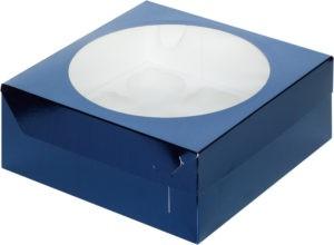Коробка для 9 капкейков с ложементом СИНЯЯ, 235х235х100