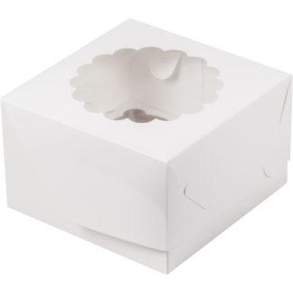 Коробка для 4-х капкейков с ложементом БЕЛАЯ, 160х160х100