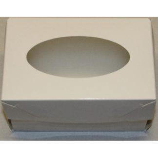 Коробка для 2-х капкейков с ложементом БЕЛАЯ, 160x100x100
