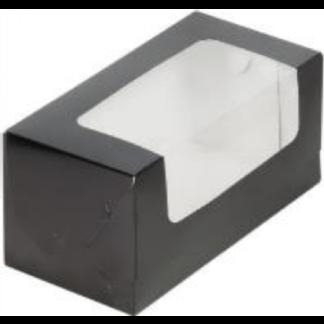 Коробка для кекса 200х100х100 ЧЕРНЫЙ
