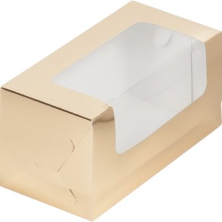 Коробка для кекса 200х100х100 ЗОЛОТО