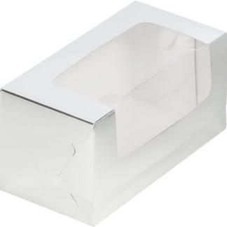 Коробка для кекса 200х100х100 СЕРЕБРО