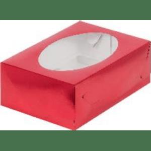 Коробка для 6 капкейков с ложементом КРАСНАЯ, 235х160х100