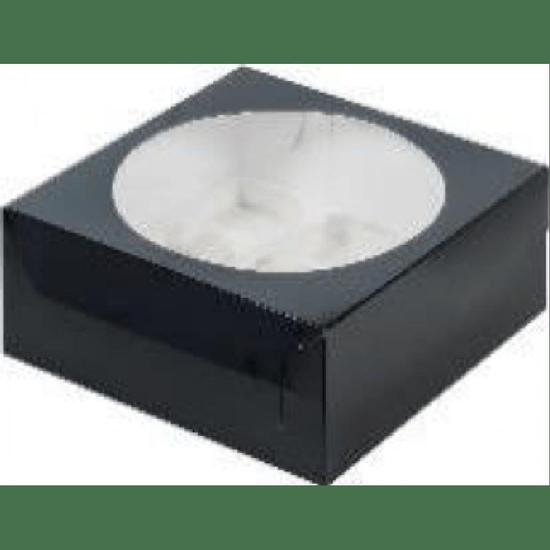 Коробка для 9 капкейков с ложементом ЧЕРНАЯ, 235х235х100