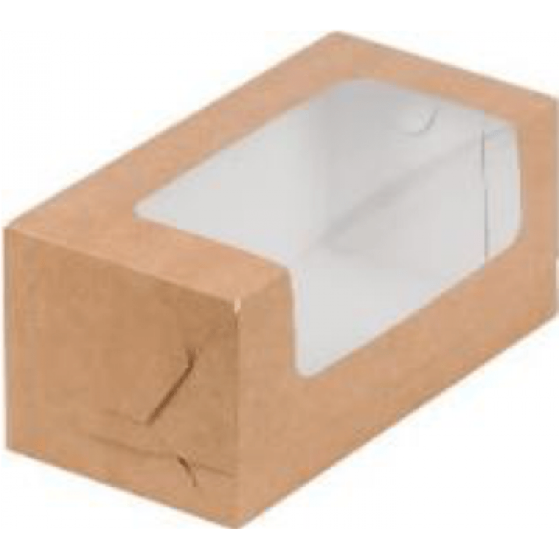 Коробка для кекса КРАФТ, 200х100х100