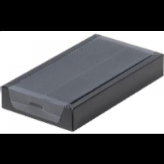 Коробка для конфет на 8шт с пластиковой прозрачной крышкой ЧЕРНАЯ, 180х100х30