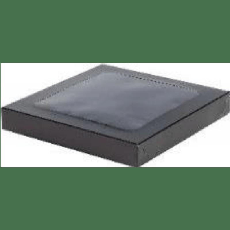 Коробка для конфет на 9шт с крышкой ЧЕРНАЯ, 155х155х30