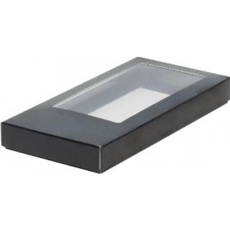 Коробка для шоколадной плитки 160*80*17 крышка- дно ЧЕРНАЯ