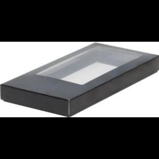 Коробка для шоколадной плитки 180*90*17 крышка- дно ЧЕРНЫЙ