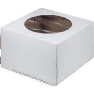 Коробка для тортов с окном гофрокартон (новая сборка)