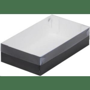 Коробка для зефира с пластиковой крышкой, черная