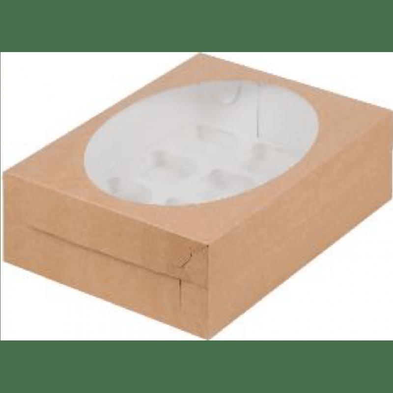 Коробка КРАФТ для 12 капкейков с ложементом, 320х235х100