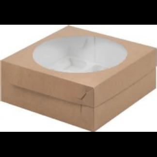 Коробка КРАФТ для 9 капкейков с ложементом, 235х235х100