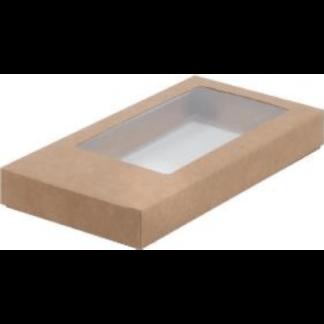 Коробка КРАФТ для шоколадной плитки 160х80х17 крышка- дно