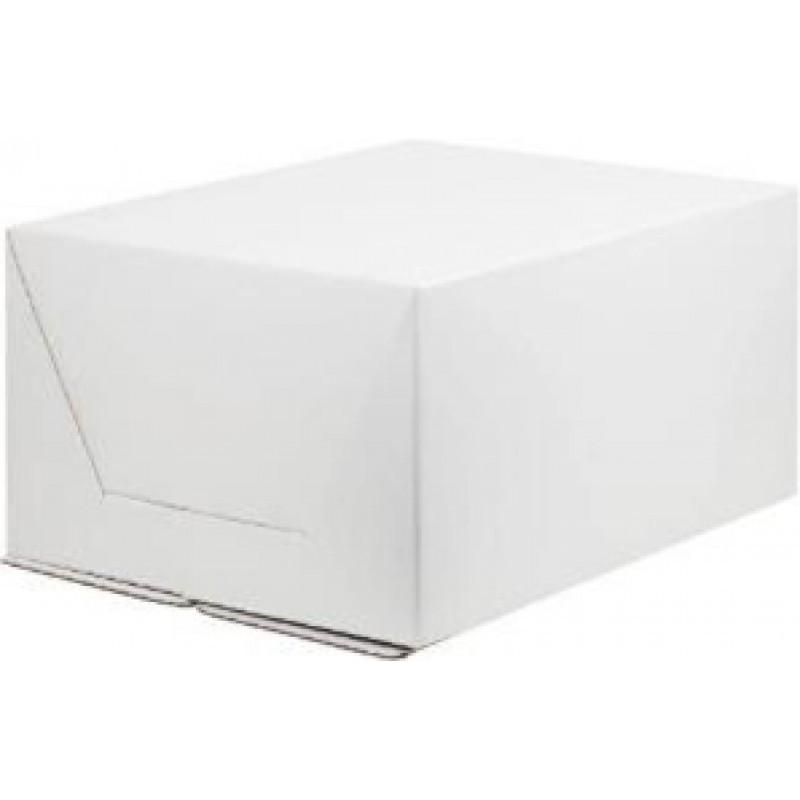 Коробка под торт без окна сборка-конверт, гофрокартон, 300х400х200