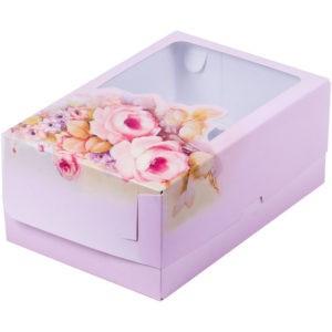 Коробка для 6 капкейков с ложементом РОЗА, 235х160х100