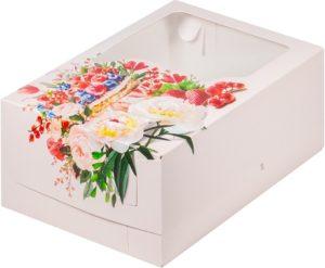 Коробка для 6 капкейков с ложементом ЯГОДА, 235х160х100