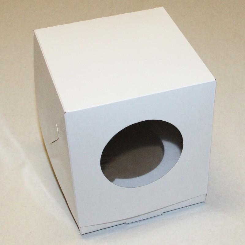 Коробка для 1 капкейка с ложементом БЕЛАЯ, 100x100x100