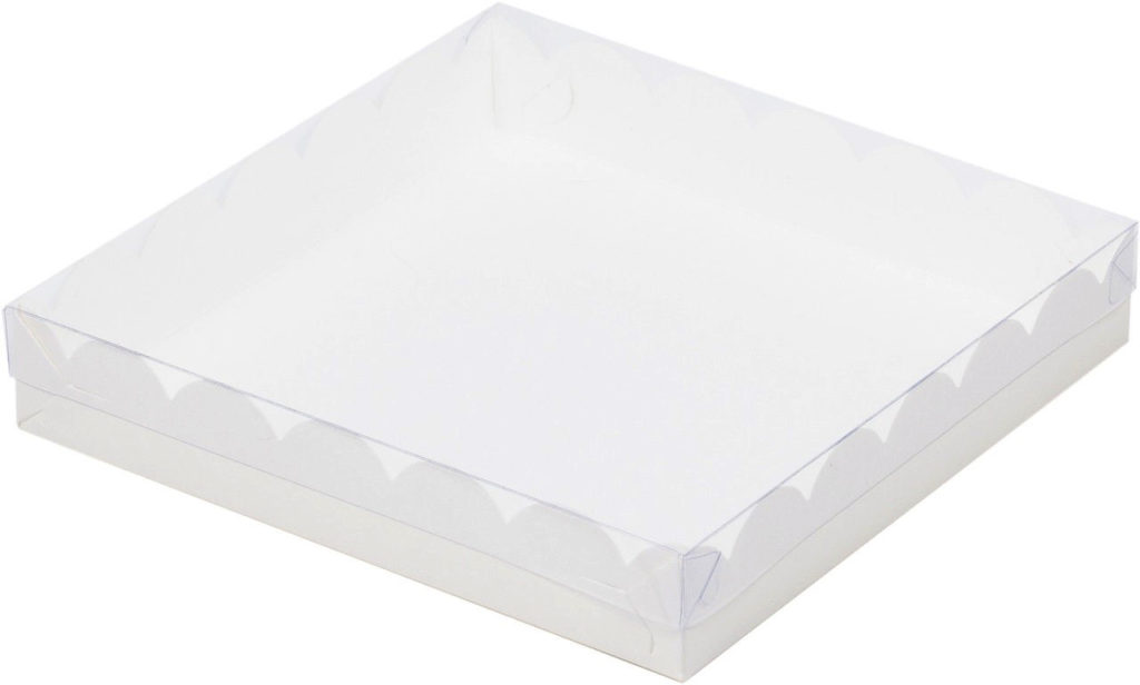 Коробка для печенья и пряников, 120х120х30 БЕЛАЯ