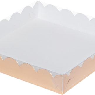 Коробка для печенья и пряников, 120х120х30 ЗОЛОТО