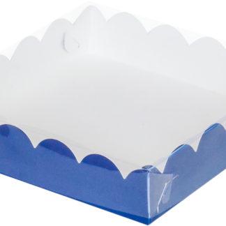 Коробка для печенья и пряников, 120х120х30 СИНЯЯ
