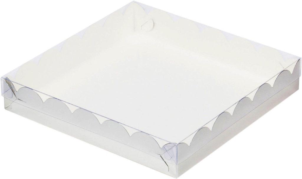 Коробка для печенья и пряников, 120х120х30 СЕРЕБРО