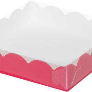 Коробка для печенья и пряников, 120х120х30 КРАСНАЯ