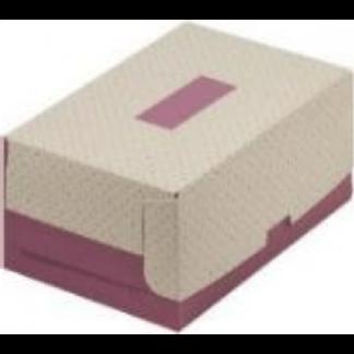Коробка для тортов и пирожных с печатью СИРЕНЕВАЯ, Без окна 235х160х100