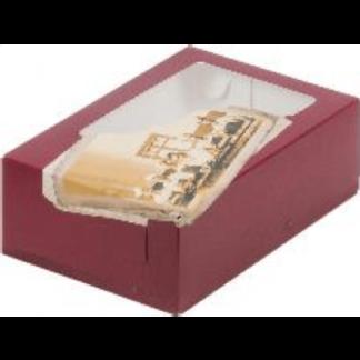 Коробка для тортов и пирожных с печатью КОНДИТЕРСКАЯ ФАБРИКА С ОКНОМ,  190x130x75