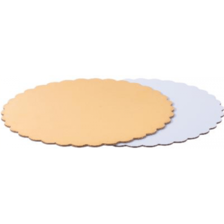 Подложки для тортов двусторонние с фигурными краями 3,2мм