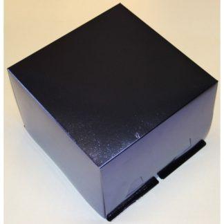 Синяя коробка для торта крышка-дно