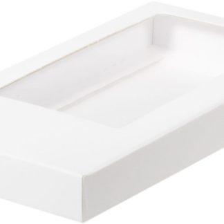 Коробка для шоколадной плитки 160*80*17 крышка- дно БЕЛЫЙ