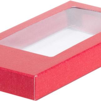 Коробка для шоколадной плитки 160*80*17 крышка- дно КРАСНАЯ