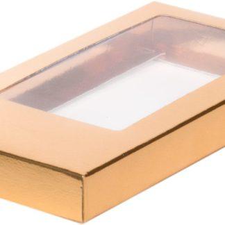 Коробка для шоколадной плитки 160*80*17 крышка- дно ЗОЛОТО
