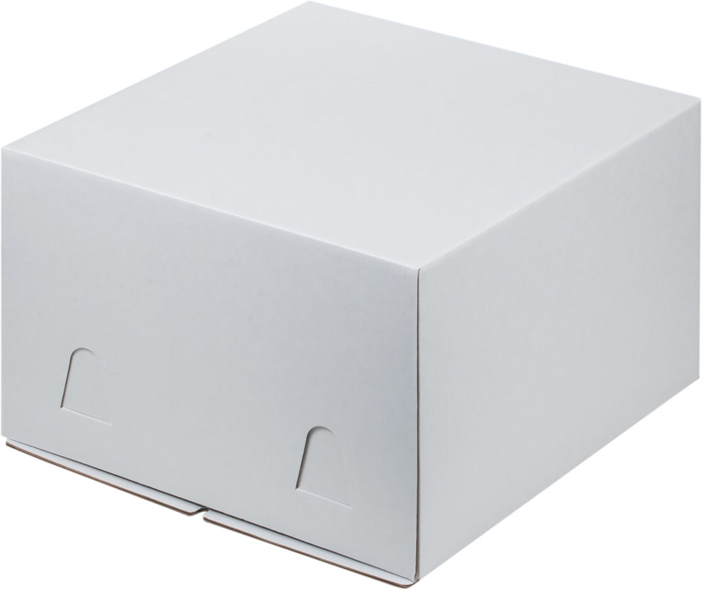 Коробка для тортов БЕЛАЯ без окна хром-эрзац