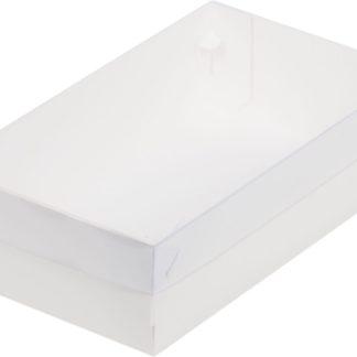 Коробка для зефира, тортов и пирожных С ПЛАСТИКОВОЙ КРЫШКОЙ
