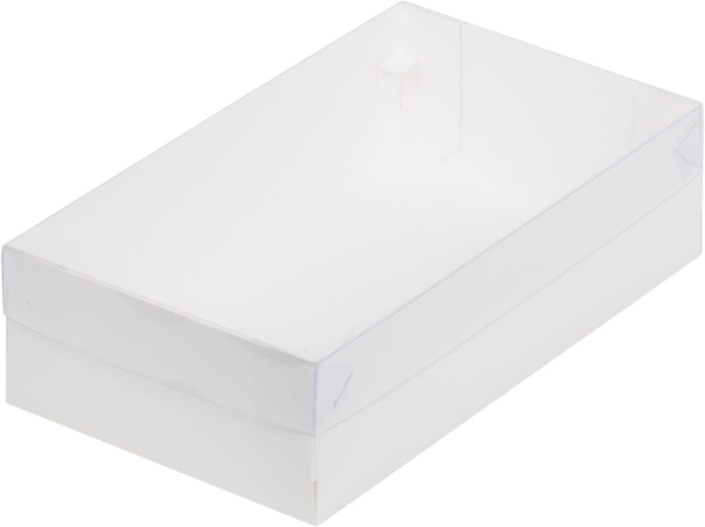 Коробка для зефира с пластиковой крышкой, белая