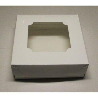 Коробка для зефира и печенья с окном, 200х200х70