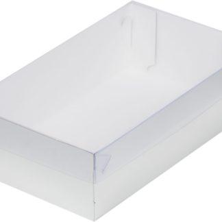 Коробка для зефира с пластиковой крышкой, серебро