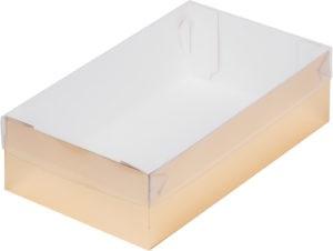 Коробка для зефира с пластиковой крышкой, золото