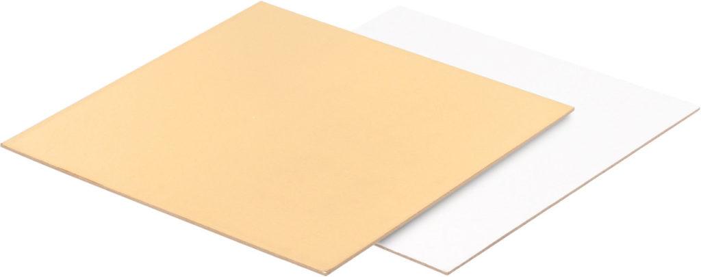 Подложки для тортов ДВУСТОРОННИЕ, прямоугольные/квадрат 1,5мм