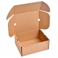 Бурая обувная коробка №75, 300*240*130 мм