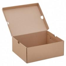Бурая обувная коробка №75/1, 300*240*120 мм