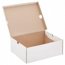 Беленый обувной короб №77/1, 300*240*120 мм