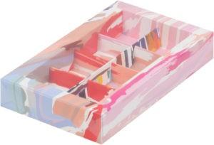 Коробка для конфет на 8шт с печатью светлая акварель, 190х110х30