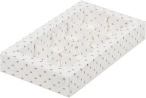 Коробка для конфет на 8шт с печатью в виде узора, 190х110х30