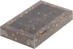 Коробка для конфет на 8шт с печатью звезды, 190х110х30